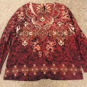 Long-sleeve Embellished Top